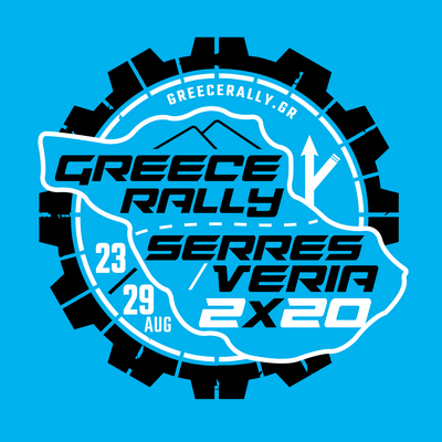 GR Rally circle logo in Cyan 2x20