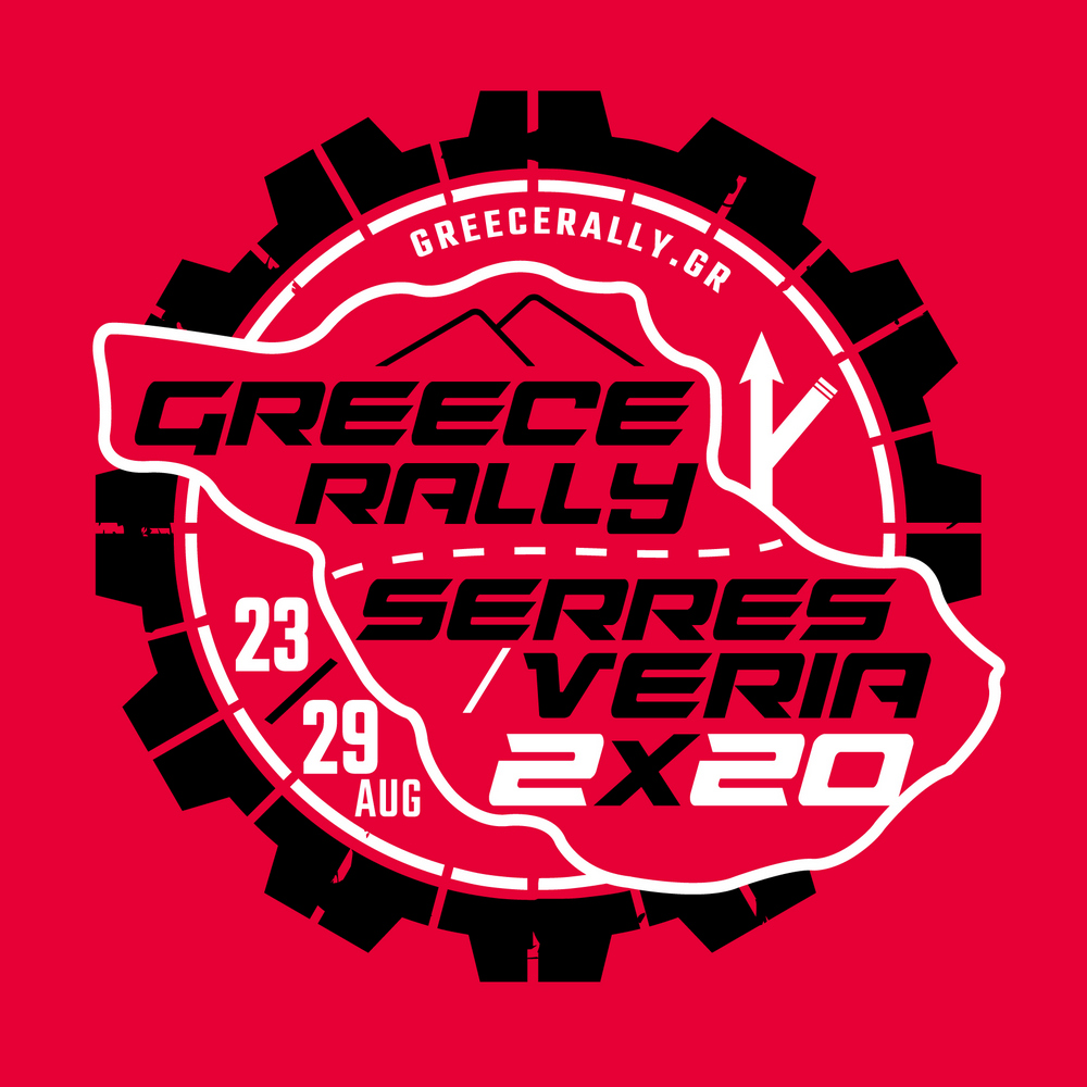 GR Rally circle logo in Red 2x20